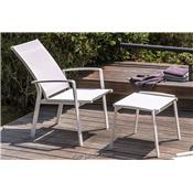 Lot de 2 Fauteuils de Jardin inclinable Lady